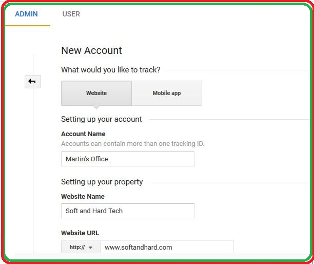 Analytics Account Property and View (Account)