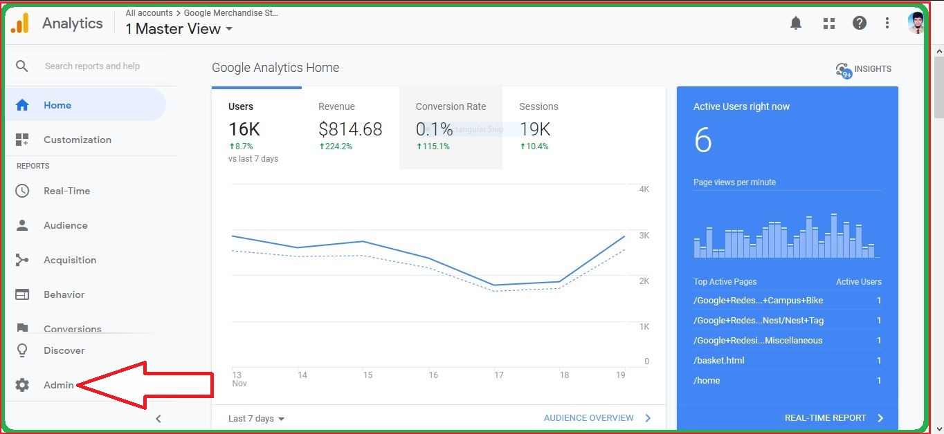 Google Analytics Account Property and View Home Part 1