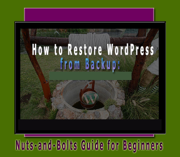 Restore WordPress from backup focus image