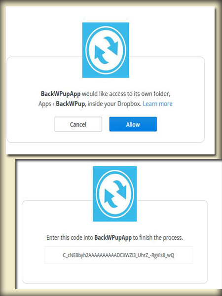 BackWPup to backup WordPress site (Authentication)