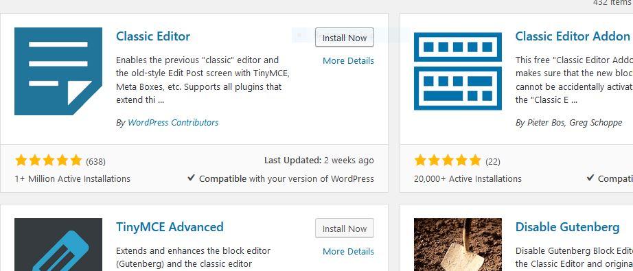 Back to Classic Editor From Block Editor in WordPress focus