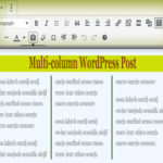 Plugin-free Multiple columns in WordPress post with CSS