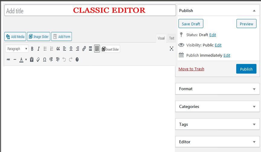 Classic Editor screenshot