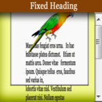 How to make fixed Heading, Paragraph or Div in WordPress