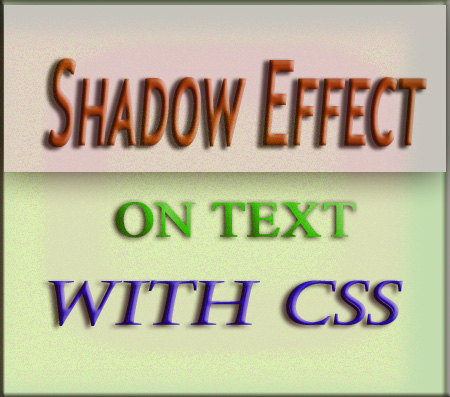 Shadow effect on Text