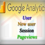 Get a fix on User, New user, Session and Pageviews of Google Analytics
