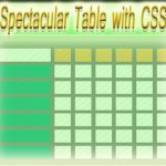 How to Create Spectacular Table with html, CSS