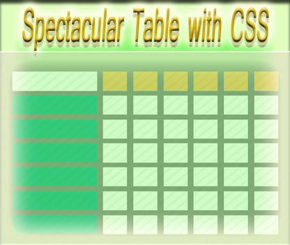 Create table with html css