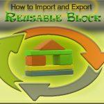 How to  import and export Reusable block in WordPress
