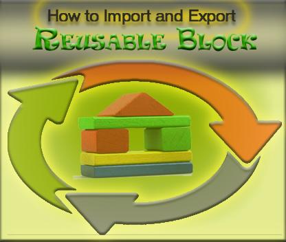 Reusable Block Import Export