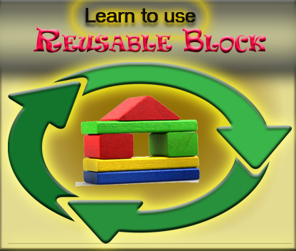 Learn to use Reusable block