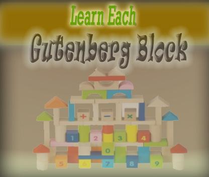 Every Gutenberg block