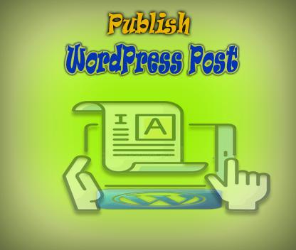Publish WordPress posts