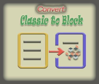 Converting Classic post to Blocks
